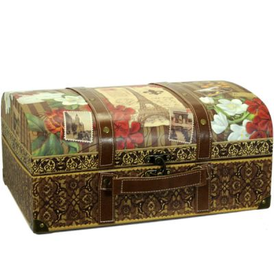 Trunks Storage on Punch Studio Parisian Souvenir Travel Trunk