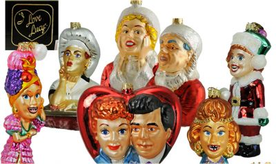 Lucille Ball I Love Lucy Radko Christmas Ornaments