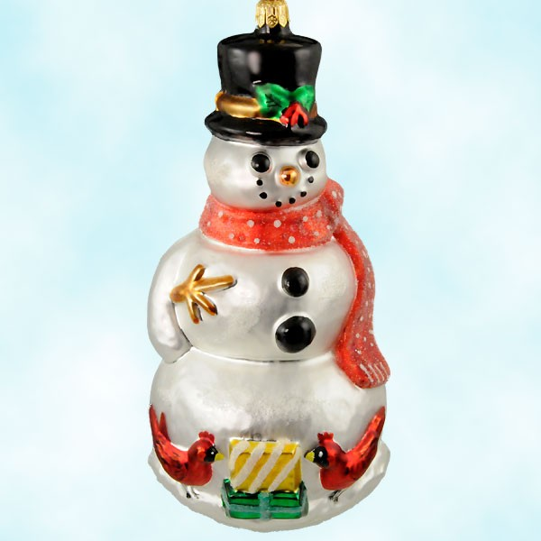Collect this classic Christopher Radko Christmas ornament country style snowman ornament!