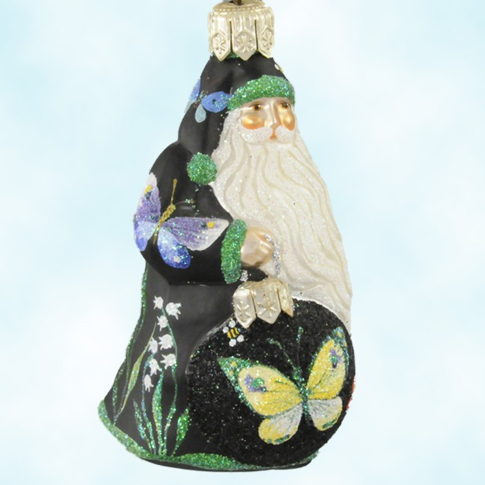 Ornamental Santa - Butterflies, Patricia Breen Christmas Ornaments, 2002, 2288, Tampa Neiman Marcus, Mint with Tag Signed