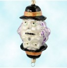 Put Our Heads Together - Halloween, Radko Christmas Ornaments, 2000, 00-131-0, Mirrored ghosts, skeleton, Mint With Tag