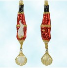 Diving Santa, Patricia Breen Christmas Ornaments, 2000, B9909, Gold oyster & pearl, Mint With Tag