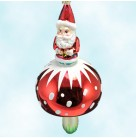 Santa 'Shroom, Radko Ornaments, 2004, 1011734, Red jacket and cap, blue pants stands on red cap mushroom, Christmas, Mint with Tag, Box