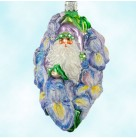 Iris Santa - Flower, Patricia Breen Christmas Ornaments, 2004, 2417, FG, Blue & lavender, bejeweled, Mint With Tag