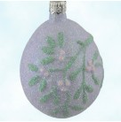 Mistletoe Egg - Lavender, Patricia Breen Christmas Ornaments, 1999, 9918, Easter, pearl heart, Mint With Tag