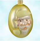 Jelly Bean Santa - Yellow Matte, Patricia Breen Christmas Ornaments, 1999, 9916, Candy,  yellow glitter trim, Easter, Spring, Mint With Tag