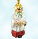 Sing We Now - Church choir girl &  Caroler, Radko Ornaments, 1996, 96-176-0, Blond girl, Christmas, Mint with Tag