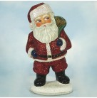 Glitter Glance Santa Claus - Candy Container, 2000, 00-1251-0, Ino Schaller, Glittered red suit, teddy bear in green sack, Mint