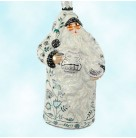 Connaught Santa - Chinoiserie Platinum - TBA 1, Patricia Breen Christmas Ornaments, 2006, 2606, Tea Party, Mint With Tag
