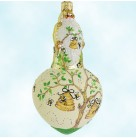 Spearman Santa - Bees, Patricia Breen Christmas Ornaments, 2005, 2562, Beehives, yellow, green, Spring, Mint With Tag