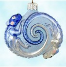 Once Again for James - Blue, Patricia Breen Christmas Ornaments, 2006, 2669, Tysons Corner Neiman Marcus, LTD 120, chameleons, Mint With Tag