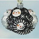For James Twice - Snowfaces, Patricia Breen Christmas Ornaments, 2005, 2518, Neiman Marcus, Limited 120, Chameleons & Snowmen, Mint With Tag
