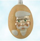 Jelly Bean Santa - Peach Glittered, Patricia Breen Christmas Ornaments, 2000, 9916, Glittered, Easter candy, Mint With Tag