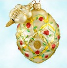 Trelliage Beehive - Red Roses, Patricia Breen Christmas Ornaments, 2000, 2043, 2 Part, Bee toggle, flowers, Mint With Tag