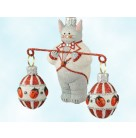 Bunny Balance - Ladybugs, Breen Christmas Ornaments, 2008, 2808, Neiman Marcus, Easter rabbit, eggs, bejeweled, Mint With Tag