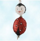 Kinley Kinetics - Lady Connie Bug, Patricia Breen Christmas Ornament, 2002, 2274, CATZ, 2 part, fully glittered, Spring, Mint With Tag