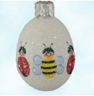 Miniature Egg - Insects, Patricia Breen Christmas Ornaments, 2008, 2834, Bees & ladybugs, Easter, Mint With Tag