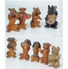 Musician Dogs, Set of 9, Anri, 1920s, Hand carved wooden dogs, all playing different instruments, one conducting, Excellent antique condition