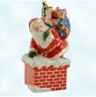 Midnight Delivery - Santa Delivers Salt & Pepper Shakers, Christopher Radko Home for Holidays, 2008, 2011552, blue bag, toys, Mint in Box