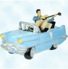 Cookie Jar - Elvis Presley Blue Cadillac, Vandor, 1997, 47042, LTD 10,000, First Edition, Blue jacket, salmon pants, playing guitar, Excellent