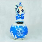 Winter Blossom Candy Container, Christopher Radko, Ino Schaller, 2004, Limited 600, Mint With Tag