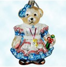Alice In Wonderland Muffy - Blue Dress, Radko Christmas Ornament, 2008, 3010676, Potion, key necklace, Christmas, Mint With Tag