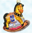 Pony Ride - Gold Rocking Horse, Radko Christmas Ornaments, 1998, 98-381-0, Animal Toy, Mint With Tag