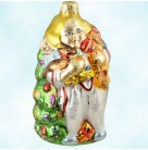 Christmas Joy, Radko Christmas Ornaments, 1995, 95-033-0, Girl holds gifts & tree, Mint With Tag