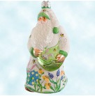 Remember Me Santa - Easter, Patricia Breen Christmas Ornaments, 2003, 2300MIL, Ltd 60, Milaeger's exclusive, eggs, Mint