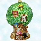 Happy Hideaway, Radko Christmas Ornaments, 99-066-0, 1999, Bunny, rabbits, tree house, Easter, Spring, Mint With Tag