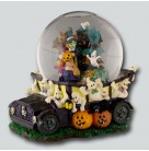 Ghoul Mobile - Snowglobe, Radko Home for the Holidays, 1999, 99-603-0, Ltd 5000, Ghost Busters Music & Lights, Mint with Tag, Box
