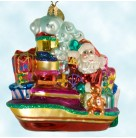 Tug Time Toys, Radko Ornaments, 2002, 0204980, Santa on Boat,  Waves, presents, Christmas, Mint with Tag