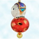 15th Anniversary Center Ring - Red Ball, Radko Christmas Ornament, 2000, 90-086-5, 3 Tier, circus elephant