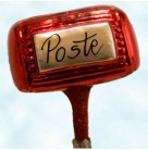 Le Postal Box, Red, Patricia Breen Christmas Ornaments, 1996, B9630, Clip on post box, Valentines, Mint with Tag