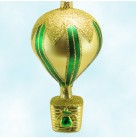 Versailles Balloon - Green & Gold, Patricia Breen Christmas Ornaments, 1996, 9511, Large Chevron Trim, Norstroms, AS IS