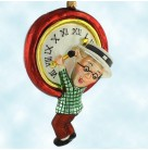 Millennium Clock - Harold Lloyd, Christopher Radko Christmas Ornaments, 1999, 99-LYD-01, Hangs from clock, Mint with Tag, Box