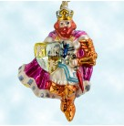 Legends of Britain - King Arthur, Christopher Radko Christmas Ornaments, 2002, 02-0108-0, Fuchsia robe, shield, Mint with Tag