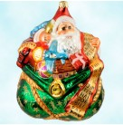 Enough for All - Green Bag, Radko Christmas Ornaments, 1997, 97-209-0, Toys & list, Christmas, Christopher, Mint with Tag