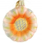 Patchwork Blossom - Peach & orange, Christopher Radko Christmas Ornaments, 2001, 01-0659-0a, German, Flower, Mint with Tag