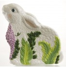 Fern Meadow Canapé Plate - Easter Bunny, Christopher Radko Home for the Holidays, 2002, 02-6142-0, Rabbit, hyacinths, Mint with Tag, Box