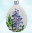 Medium Egg - Lilac Glittered, Patricia Breen Christmas Ornament, 2006, 2627, lavender & purple flower, Easter, Mint with Tag