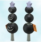 Ghostly Finial - Balck, Patricia Breen Christmas Ornaments, 2003, 2142, Jack O'Lantern, silver, recoloration, Mint with Tag, Box