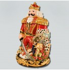Nutcracker King Suite Cookie Jar, Christopher Radko Christmas home decor, 2000, 00-641-0, Red uniform, castle, Clara, mouse king, soliers, Mint in Box
