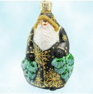 Miniature Through The Woods Santa - Black, Patricia Breen Christmas Ornaments, 2003, 2244, Store Exclusive Ltd 60, Mint with Tag