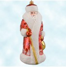 Siberian Snow Nick - Red Russian Santa, Radko Christmas Ornaments, 2004, 3010905,  Store Exclusive, Ltd 300, village scene, Mint with Tag