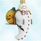 Halloween Delivery - White & Orange, Patricia Breen Halloween Ornament, 2008, 2825, ghost, jack-o-lantern, Mint with Tag