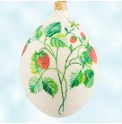 Strawberry Egg - Glittered, Patricia Breen Christmas Ornaments, 2004, 2400NM, Select Retailer, Easter, Mint with Tag