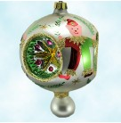 Elf Reflector - Pearl, Christopher Radko Christmas Ornaments, 1992, 91-135-1, Teddy bear clowns