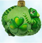 Once Again for James - Lucky, Patricia Breen Christmas Tree Ornaments, 2008, 2669, chameleon, shamrock, Mint
