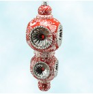 Majestic Reflector - Chinoiserie Red, Breen Christmas Ornament, 2012, 3220, Neiman Marcus, 3 Tier, Mint with Tag